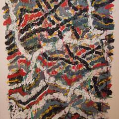 Teo Libardo - Entrelacs n° 250, 1994 - acrylique et pastel gras sur toile, 100x81 cm - © Adagp, Paris, 2017