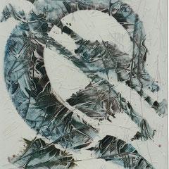 Teo Libardo - Blanches n° 398, 1997 - acrylique sur toile, 100x81 cm - collection particulière - © Adagp, Paris, 2017