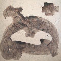 Teo Libardo - Blanches n° 349, 1996 - acrylique sur toile, 150x150 cm - © Adagp, Paris, 2017