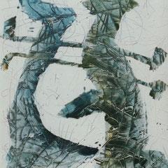 Teo Libardo - Blanches n° 399, 1997 - acrylique sur toile, 100x81 cm - collection particulière - © Adagp, Paris, 2017
