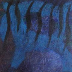 Teo Libardo - Bleues n°546, 2016 - acrylique et encre sur toile, 60x60 cm - © Adagp, Paris, 2017