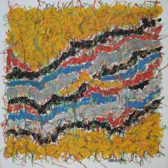 Teo Libardo - Entrelacs n° 236, 1993 - acrylique et pastel gras sur toile, 60x60 cm - © Adagp, Paris, 2017