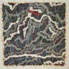 Teo Libardo - Entrelacs n° 234, 1993 - acrylique et pastel gras sur toile, 60x60 cm - collection particulière - © Adagp, Paris, 2017