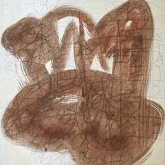 Teo Libardo - Blanches n° 338, 1996 - acrylique sur toile, 60x60 cm - collection de l'artiste © ADAGP