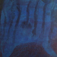 Teo Libardo - Bleues n°547, 2016 - acrylique et encre sur toile, 60x60 cm - © Adagp, Paris, 2017