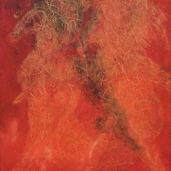 Teo Libardo - Rouges n°463, 2009 -  acrylique sur toile, 100x81 cm - © Adagp, Paris, 2017
