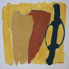 Teo Libardo - Jaunes n° 291, 1995 - acrylique et terre sur toile, 60x60 cm - © Adagp, Paris, 2017