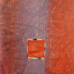 Teo Libardo - Recouvrir-Découvrir n° 94, 1990 - acrylique sur papier, 75x54,5 cm - collection particulière - © Adagp, Paris, 2017