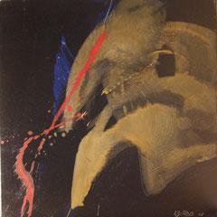Teo Libardo - Noires n° 423, 2002 -  acrylique sur toile, 60x60 cm - © Adagp, Paris, 2017