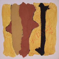 Teo Libardo - Jaunes n° 292, 1995 - acrylique et terre sur toile, 60x60 cm - © Adagp, Paris, 2017