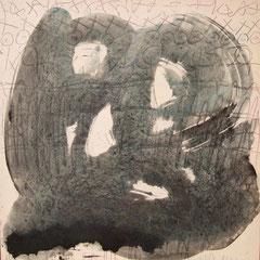Teo Libardo - Blanches n° 335, 1996 - acrylique sur toile, 60x60 cm - © Adagp, Paris, 2017