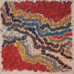 Teo Libardo - Entrelacs n° 237, 1993 - acrylique et pastel gras sur toile, 60x60 cm - © Adagp, Paris, 2017