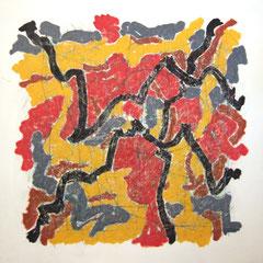 Teo Libardo - Entrelacs n° 285, 1994 - acrylique et pastel gras sur toile, 125x125 cm - © Adagp, Paris, 2017