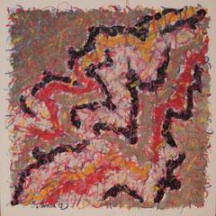 Teo Libardo - Entrelacs n° 233, 1993 - acrylique et pastel gras sur toile, 60x60 cm - © Adagp, Paris, 2017