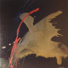 Teo Libardo - Noires n° 421, 2002 -  acrylique sur toile, 60x60 cm - collection de l'artiste - © Adagp, Paris, 2017