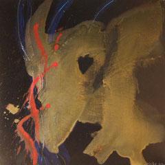 Teo Libardo - Noires n° 424, 2002 -  acrylique sur toile, 60x60 cm - © Adagp, Paris, 2017