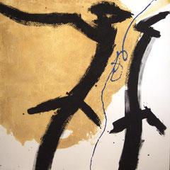 Teo Libardo - Jaunes n° 306, 1995 - acrylique et sable sur toile, 150x150 cm - © Adagp, Paris, 2017