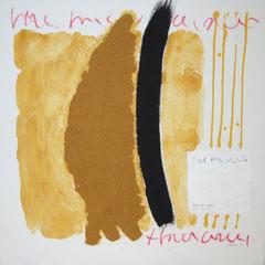 Teo Libardo - Jaunes n° 289, 1995 - acrylique, terre et pastel gras sur toile, 60x60 cm - collection de l'artiste - © Adagp, Paris, 2017