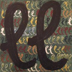Teo Libardo - Abécédaire, n°526, 2015 - technique mixte sur toile, 60x60 cm - © Adagp, Paris, 2017