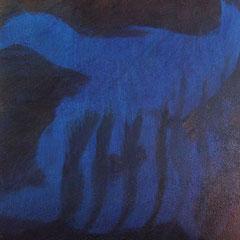 Teo Libardo - Bleues n°545, 2016 - acrylique et encre sur toile, 60x60 cm - © Adagp, Paris, 2017