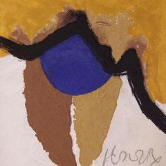 Teo Libardo - Jaunes n° 296, 1995 - acrylique et terre sur toile, 100x81 cm - © Adagp, Paris, 2017