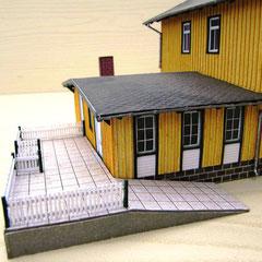 c) W. Fehse - Modell Bhf Hasselfelde, Terrasse