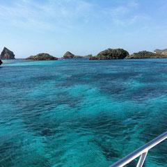 小笠原の青い海