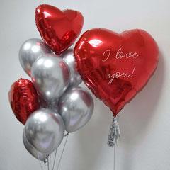 воздушные шары на 14 февраля в виде сердец