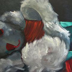 bunny 009 | 50 x 100 cm | Öl auf LW | 2017