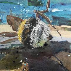 hummel III  | 29,7 x 42 cm | Mixedmedia auf Papier | 2016
