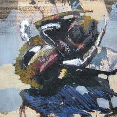 bumblebees | 24 x 18 cm | Mixedmedia auf Papier | 2015 | Privatbesitz