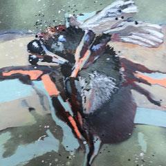 hummel I  | 29,7 x 42 cm | Mixedmedia auf Papier | 2016 | Privatbesitz