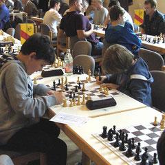Vereinsinterne Duelle waren nicht vermeidbar: Luca und Niklas