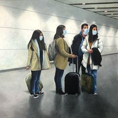 QUO VADIS? (2020, 100x100 cm, Acryl auf Leinwand)