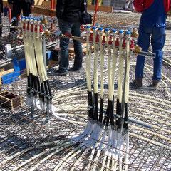 Vorbereitung der Massivdecke zur Betonkernaktivierung