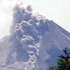 メラピ山噴火
