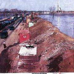 泥の海に浮く高速道路