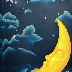 Photo Booth (the moon is not my work, just the clouds and stars)