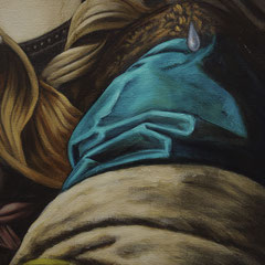 Lacrimosa Huile sur toile 65X81 (détail)