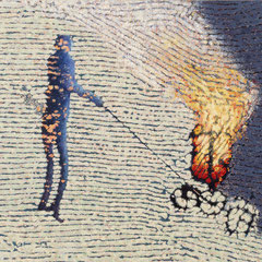 """Die Laterne"", 1998, Öl auf Leinwand, 114 x 130 cm"
