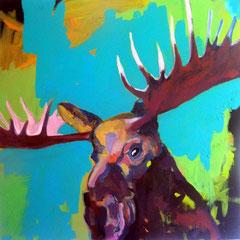 Elch, Acryl auf Leinwand, 100x100cm