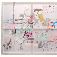 ANTHIA LOIZOU, 2019, Klebeband auf Transparentpapier, flüssiger Kunststoff, 170x190cm