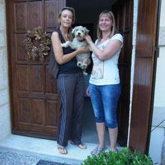 Abschied von Sabine und Monti