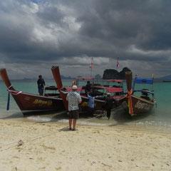 unser Longtailboot das uns nach Trang brachte