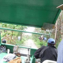 """aufgrund des Sturmes konnten wir nicht zu unserem Hotel fahren.Unser Käptn legte an der anderen Seite der Insel an,und wir (auch andere Gäste) wurden mit dem """"grünen"""" abgeholt."""