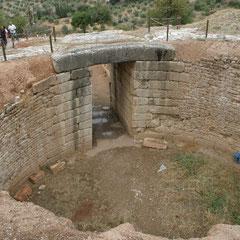 Blick auf die Grabkammer