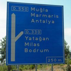 unterwegs Richtung Marmaris - Datça