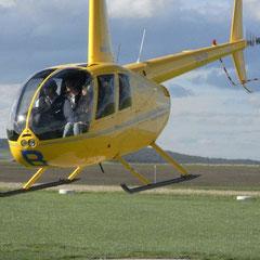 Marita im Helikopter - und los geht's zu den Twelve Apostels