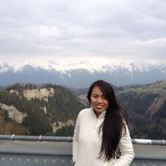 auf der Rückfahrt - im Hintergrund die Alpen