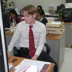 Kevin in seinem Büro